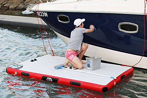 Aqua Marina Inflatable Floating Dock – Swim Deck Platform - Air Platform