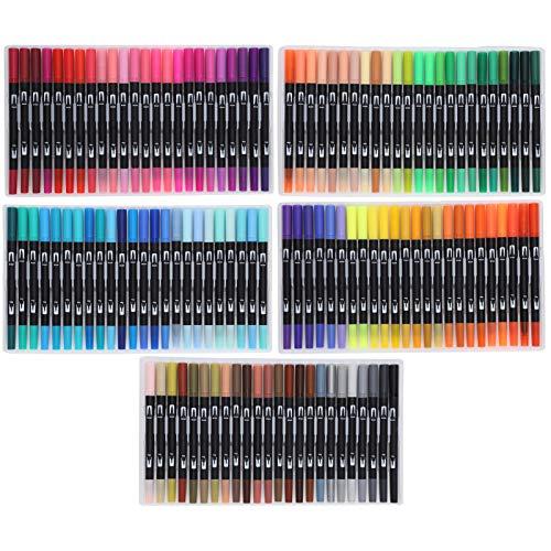 Rotuladores De Pincel De Acuarela, Rotuladores De Pincel Reales De 120 Colores Para Manualidades De Bricolaje