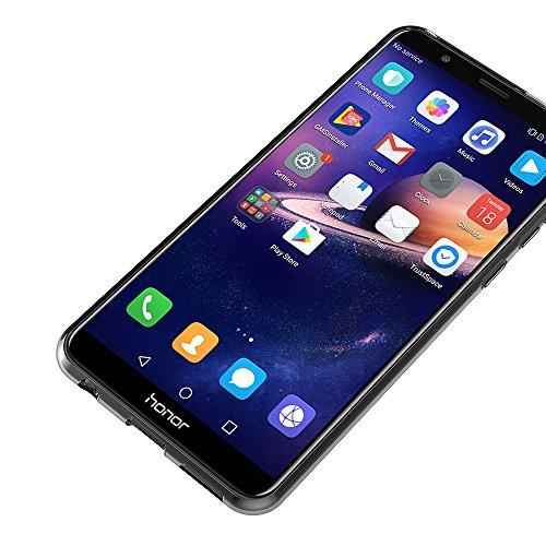 AICEK Honor 7X Hülle, Transparent Silikon Schutzhülle für Huawei Honor 7X Case Clear Durchsichtige TPU Bumper Honor 7X Handyhülle (5,93 Zoll) - 6