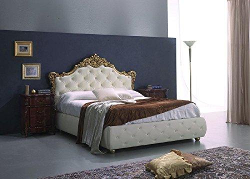 Doppelbett im Barockstil mit Behälter | 180 x 200 cm | von Le Chic