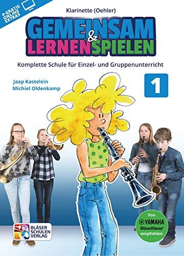 Gemeinsam lernen & spielen Band 1 (+Online-Access) : für Bläserklasse (Blasorchester) Klarinette Oehler-System