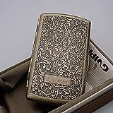 ZQS Metall Zigarettenetui Retro Kupfer Flip Ultradünn Tragbare 12-Pack-Zigaretten Gentleman Wesentliches Zubehör, 9x5x2cm (Color : E)