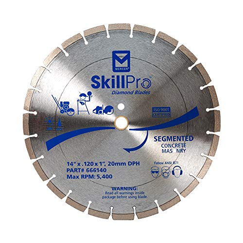 Mercer Industries 666140 SkillPro Segmented Diamond Blade, 14' x .120 x 1'/20mm DPH