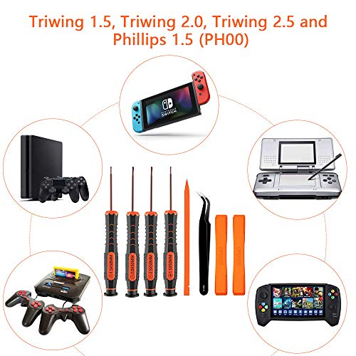 XBRdepot Triwing Y00 Y0 Y1 / Y1.5 Y2.5 Y3.0 PH00 Screwdriver Set for Nintendo Products Nintendo Switch Switch Lite Wii Gamecube Gameboy Advance DS Lite DSi 3DS GBA SP NDS