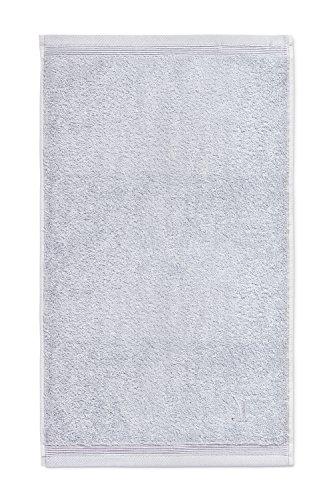 möve Superwuschel guest towel 30 x 50 cm made of 100% cotton, silv