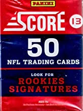 1 (One) Pack - 2013 Score Football Jumbo Pack (50 Cards per Pack) - Possible Geno Smith, E.J. Manuel, Kiko Alonso, Giovani Bernard, and/or Eddie Lacy Rookie Cards!!!