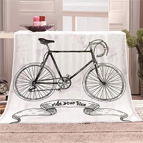 HAHAHAG Manta Franela cálida para sofá Cama Bicicleta 70X100CM cálida para Adultos Supersuave con Franela Suave Antibolitas para Adultos y niños impresión 3D