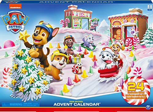 PAW Patrol 6059302 - 2020 Advent Calendar with 24 Exclusive Collectible Pieces, for Kids Aged 3 and up