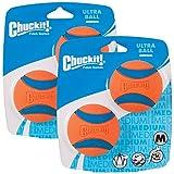 Chuckit Ball Ultra Ball Medium 4-Pack (2 x 2-Pack), Dog Fetch Toy
