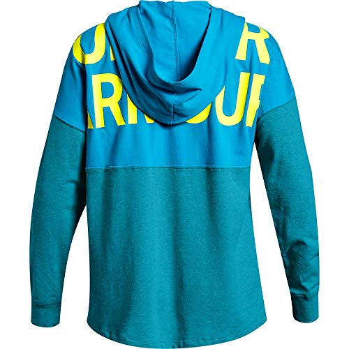 Under Armour Girls' Finale Hoodie, Deceit (439)/High-Vis Yellow, Youth Small