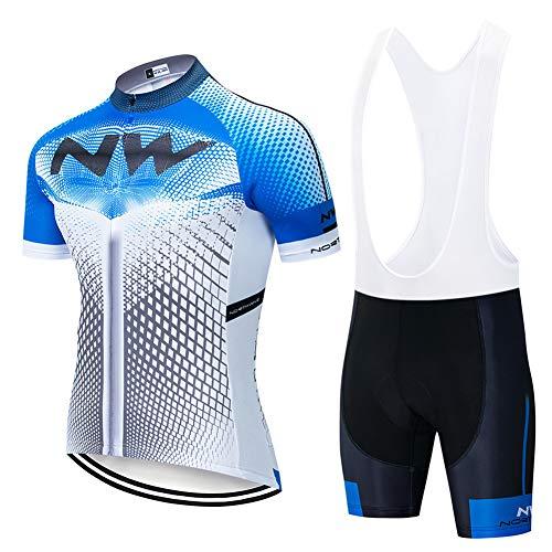 Hplights Conjunto Ropa Ciclismo Hombre, Traje MTB Maillot Bicicleta Mangas Cortas+ 9D...