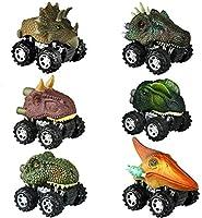 Dinosaur Toys for 2-6 Year Old Boys, Pull Back Dinosaur Cars for Kids Pull Back Vehicles Toys for Age 2-7 Boys Toy Cars...
