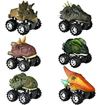 Dinosaur Toys for 2-6 Year Old Boys, Pull Back Dinosaur Cars for Kids Pull Back Vehicles Toys for Age 2-7 Boys Toy Cars Dinosaurs Party Favor Xmas Gifts for Boys Age 2-6 Stocking Fillers KL6