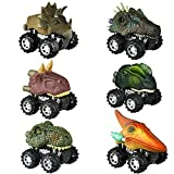 Dinosaur Toys for 2-6 Year Old Boys, Pull Back Dinosaur Cars for Kids Pull Back Vehicles Toys for...