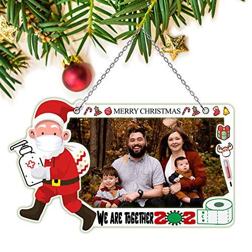 Huaxu 2020 Christmas Ornament - Quarantine Christmas Ornament,2020 Quarantine Survivor Family DIY Creative Photo