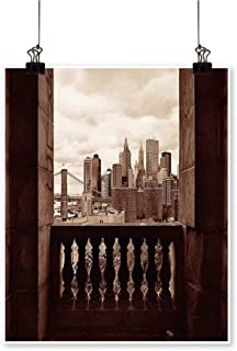 Single Painting View New York Downtown Skyscrapers St BALC y Manhattan L Mark Office Decorations,28