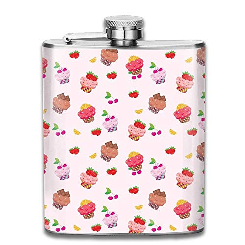 Stainless Steel Hip Flask 7 Oz (No Funnel) Sweet Cake Full Printed