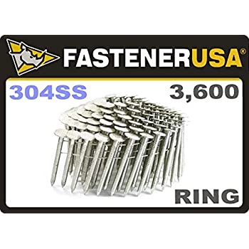1 3 4 Ring 304 Stainless Coil Roofing Nails 3 6m Box Amazon Com