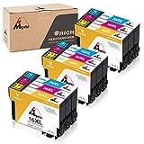 Mipelo Compatible Epson 16XL 16 Cartucce d'inchiostro, 9 Pack per Stampante Epson Workforce WF-2510 WF-2630 WF-2750...