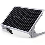 SUNER POWER 12V Waterproof Solar Battery Trickle Charger & Maintainer - 30 Watts Solar Panel Built-in Intelligent MPPT Solar Charge Controller + Adjustable Mount Bracket + SAE Connection Cable Kits