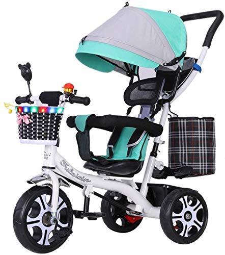 Pushchairs Kindertrikes driewieler 4 in 1 Trike kinderwagen voor kinderen verstelbare stoel met luifel duwhandvat voor peuters jongens/meisjes babyproducten