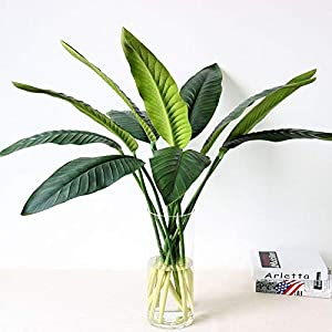 Liumipa – Artificial & Dried Flowers – 1 Piece Pu Real Touch Artificial Leaf Bird Of Paradise Fake Flowers Simulation Plants Home Decor – Artificial Flowe