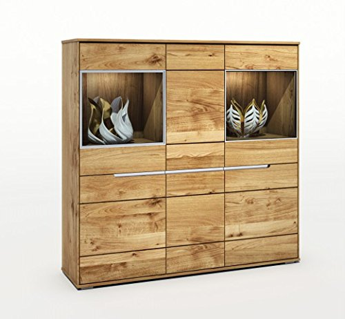 Highboard Serie Lissabon Wildeiche massiv geölt