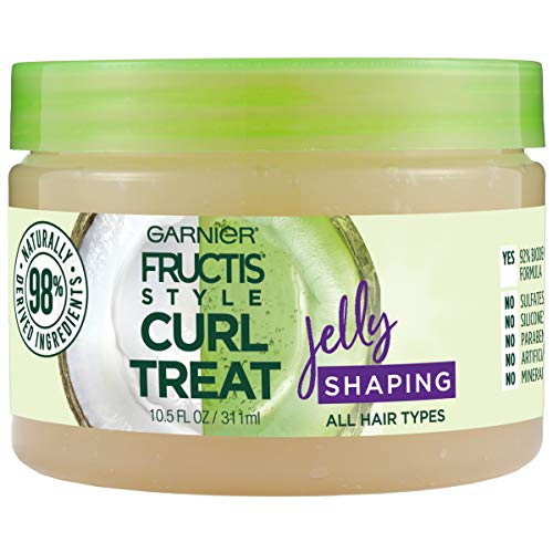 Garnier Fructis Style Curl Treat Shaping Jelly with Coconut Oil for Curly Hair 105 Ounce Jar