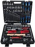 KS Tools 917.0797 1/4' - 1/2' Universal-Werkzeug-Satz, 97-teilig, Werkzeugkasten, Werkzeugbox, Werkzeug-Set, Werkzeugkiste, inkl. Werkzeug wie z. B. Schraubendreher, Ringmaulschlüssel, Umschaltknarre
