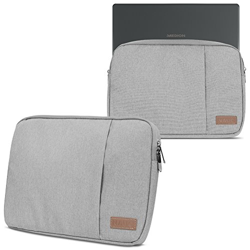 Notebook Tasche für Medion Akoya S6446 S6445 Hülle in Schwarz oder Grau Laptop Schutzhülle Case Cover Etui, Farbe:Grau