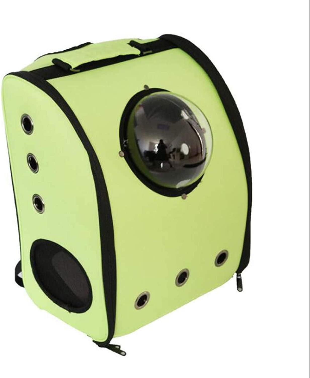 Pet Travel Bag,Cat Backpack Carrier Cat Bubbles Pet Backpack Airline Approved for Petite Dogs,Green