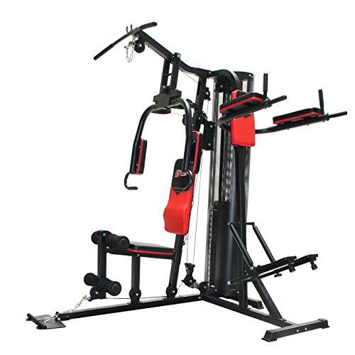 Schmidt Sportsworld–Multigym cromo 950013N Kraft Station–Stazione di fitness–Multi Station–stabile telaio in tubo di acciaio–oltre 45esercizi–Schienale imbottito