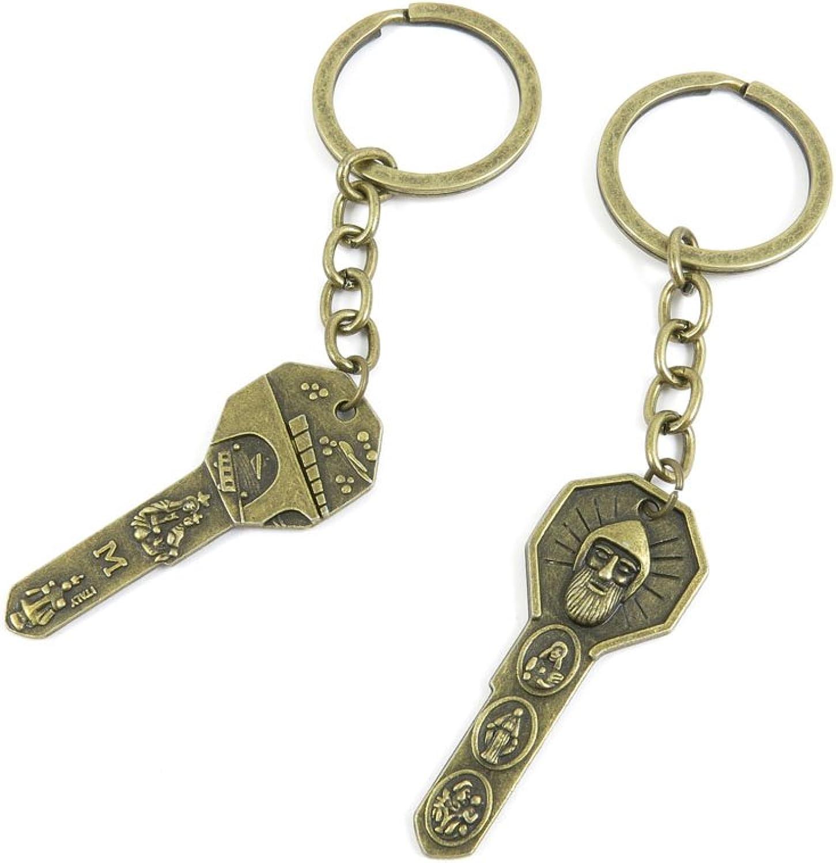130 Pieces Fashion Jewelry Keyring Keychain Door Car Key Tag Ring Chain Supplier Supply Wholesale Bulk Lots A0AZ6  Skeleton Key