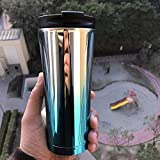 Frabble8 UV Plated 500ML Double Wall Vacuum Insulated Stainless Steel Travel Flask Mug