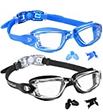 EverSport Swim Goggles, Swimming Glasses for Adult Men Women Youth Kids Child, Anti-Fog, UV Protection, Blue&Black
