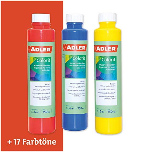 ADLER AVIVA Colorit-AF 501 Orange 750 ml Volltonfarbe Abtönfarbe Wandfarbe