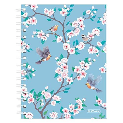 Spiralboutiquebuch A5 Ladylike Birds, 100 Blatt kariert