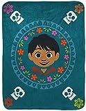 Disney Pixar Coco Poco Loco Raschel Throw Blanket - Measures 43.5 x 55 inches, Kids Bedding Features Miguel - Fade Resistant Super Soft - (Official Disney Pixar Product)