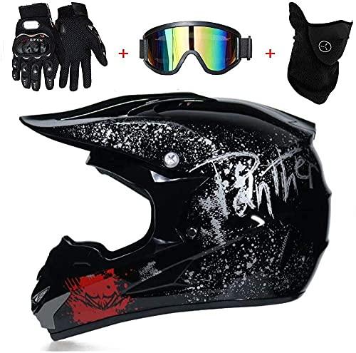 Casco para hombre todoterreno, casco de verano para motocicleta, casco completo, casco de seguridad para cuatro estaciones (talla XL)