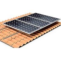 Estructura Placa solar Alu tejado perforante Solar panel structure (4 paneles)