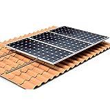 Estructura Solar Tejado Perforante para 5 Paneles Solares