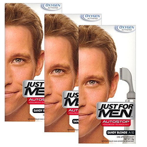 3x Just for Men Autostop Haarfarbe (Sand blonde - A10)
