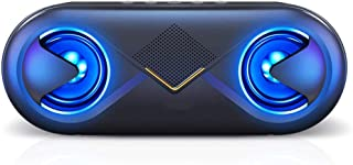 Bluetooth Speakers, Woofer with 10W HD Bass, 131 Feet Bluetooth Range, LED Speakers WNN