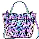 bestou griglia geometrica borsa donna tracolla borsa grande pelle borse a spalla nero (type 3)
