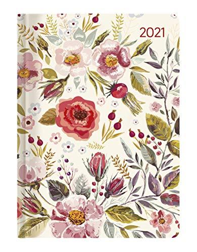 Ladytimer Flower Field 2021 - Blume - Taschenkalender A6 (11x15 cm) - Weekly - 192 Seiten - Notiz-Buch - Termin-Planer - Alpha Edition