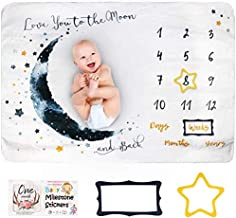 Innoo Tech Baby Monthly Milestone Blanket Boy - Baby Photo Blanket for Newborn Baby Shower, Monthly Blanket for Baby Pictu...