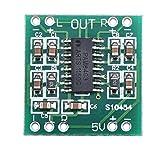 DROK® Mini-Digital-Verstärker-Brett D-Klasse 2-Kanal-Stereo-Anlage, PAM8403 Chips 3W + 3W Audio Stereos Adjustable-Controller, Audio-Verstärker für TV/Monitor/Laptop/Telefon/Lautsprecher