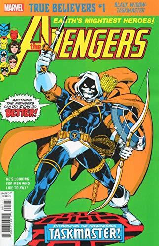 True Believers Black Widow/Taskmaster #1 Reprinting The Avengers #196 from 1980 First Taskmaster