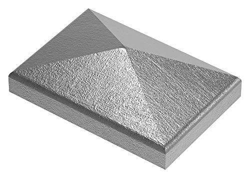 Fenau | Cubierta de Pilar/Tapa de Poste | Para tubo rectangular | Dimensiones: 60x40 mm | Acero S235JR, en bruto