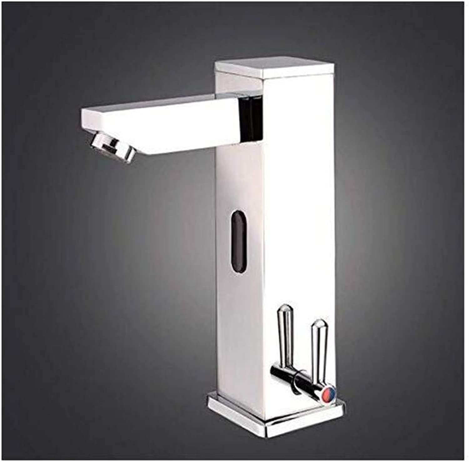 Faucet Luxury Plated Mixer Faucet Taps All-Copper Integrated Hot and Cold Sensor Faucet Infrared Basin Mixing Faucet